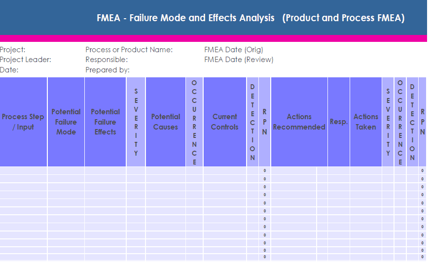 Figure 1. Example of an FMEA